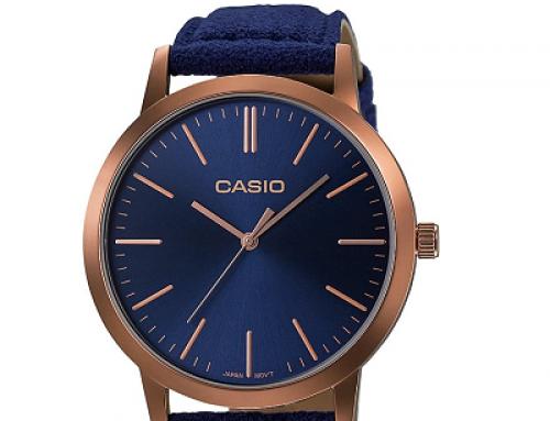 Ceas damă albastru Casio Retro LTP-E118RL-2AEF, 3 ATM