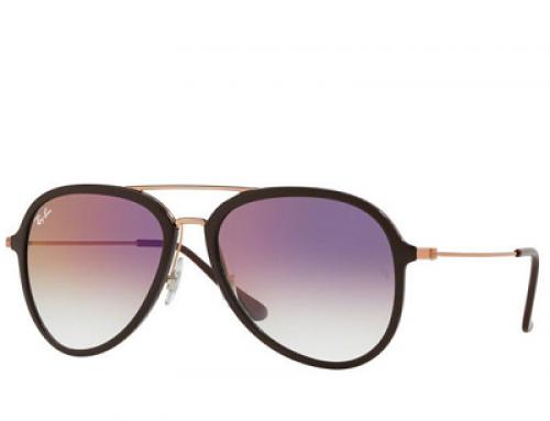 Ochelari de soare polarizați, lentile mov bărbați Ray-Ban RB4298 6335S5 57