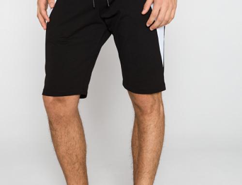 Pantaloni scurți negri din bumbac pentru bărbați Antony Morato