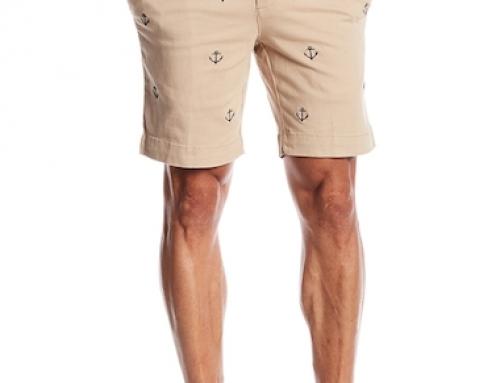 Pantaloni scurți drepți cu imprimeu ancoră pentru bărbați Vintage 1946