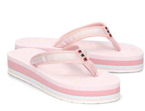 Papuci de damă cu talpă groasă și moale, roz deschis, Napapijri Ariel
