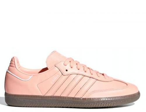 Pantofi sport damă roz, piele naturală, Adidas Originals Samba OG B44691