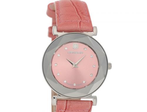 Ceas damă cu brățară roz și din piele naturală Hanowa, 3 ATM