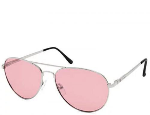 Ochelari de soare Aviator polarizați, lentile roz, bărbați, Polar 664 12/P