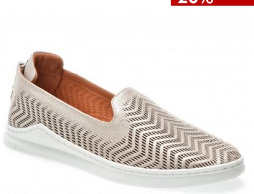 Pantofi damă din piele naturală, talpă joasă și fără toc. F.Passini UH6NB