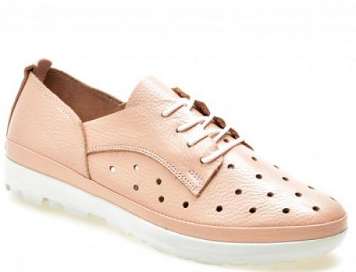 Pantofi damă roz cu talpă joasă, piele naturală, Flavia Passini DK53