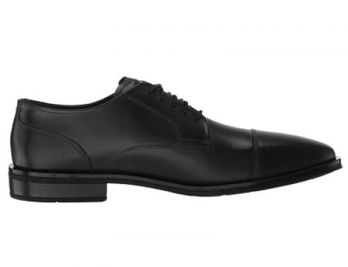 Pantofi office negri din piele naturală, talpă plată, bărbați C. Haan Dawes