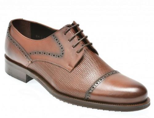 Pantofi eleganți maro din piele naturală pentru bărbați Otter BK18