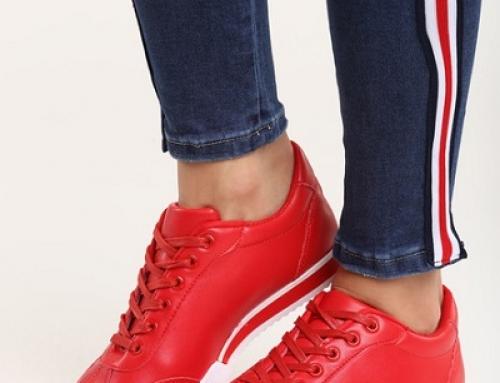 Pantofi sport de damă roșii din piele ecologică Emmalyn ZTS