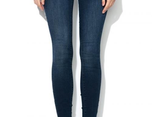 Blugi de damă super Skinny și cu talie joasă, albaștri, Guess Jeans