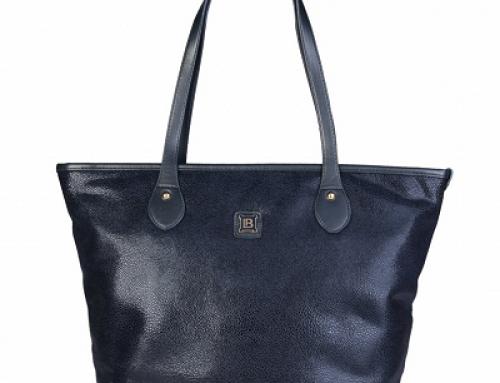 Geantă de damă shopper albastră Laura Biagiotti