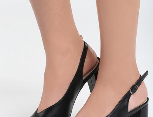 Pantofi de damă office negri cu toc gros și vârf ascuțit Carnival ZTS