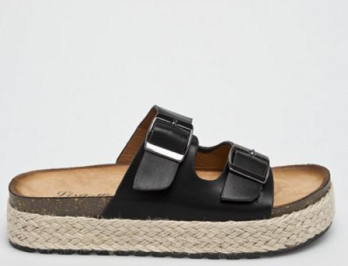 Papuci de damă cu catarame metalice și talpă groasă Answear Lisa