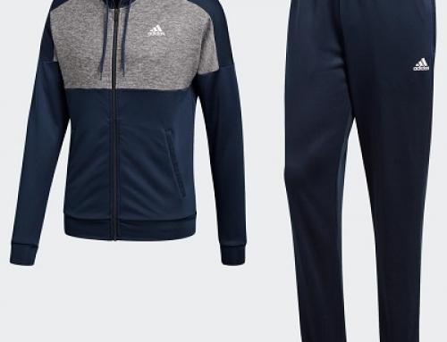 Trening slim fit cu glugă albastru pentru bărbați Adidas MTS Gametime