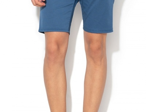 Pantaloni scurți din bumbac cu model geometric, bărbați, Guess Jeans