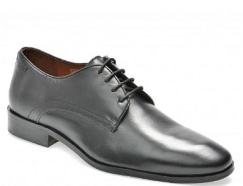 Pantofi office negri din piele naturală pentru bărbați Salamander Alger