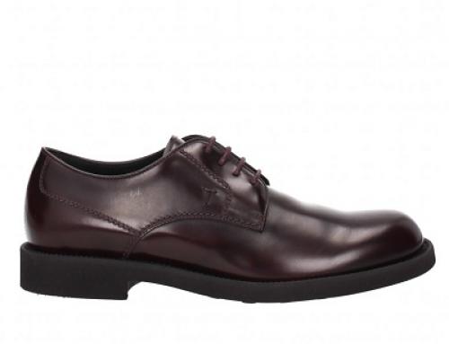 Pantofi casual din piele naturală roșu închis pentru bărbați Tod's Rich
