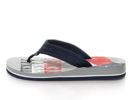 Papuci flip-flop cu plasă și material textil pentru bărbați De Fonseca Alghero