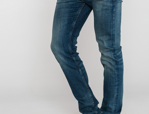Blugi slim albaștri și cu talie regular pentru bărbați Calvin Klein Asher