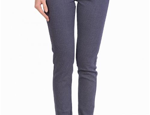 Pantaloni de damă conici din bumbac elastic, buzunare tăiate, Rania LFM