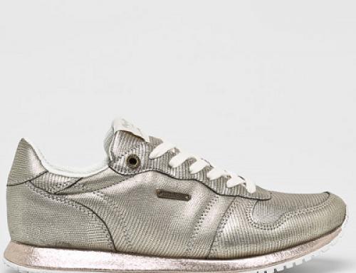 Pantofi sport de damă auriu metalizat Pepe Jeans Alvira
