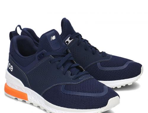 Pantofi sport albaștri cu plasă de aerisire pentru bărbați New Balance 574