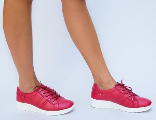 Pantofi sport de damă roșii cu talpă durabilă Kiana Dep