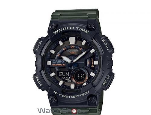 Ceas sport bărbătesc Casio AEQ-110W-3A, 10 ATM, Quartz, Analog