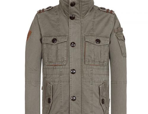 Jachetă scurtă cu guler înalt pentru bărbați Naketano Lutschewitz