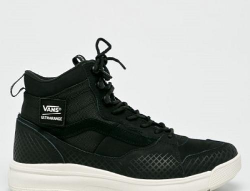 Ghete sport negre din piele naturală pentru bărbați Vans Ultrarange