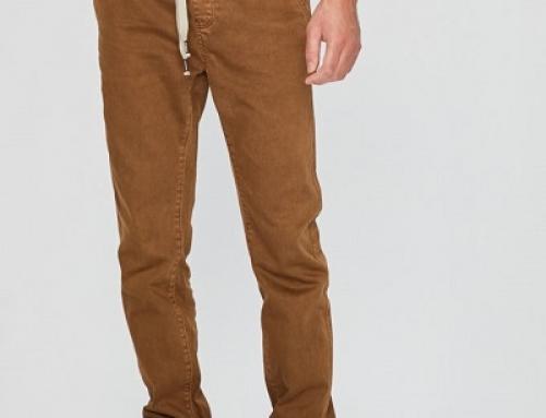 Pantaloni maro pentru bărbați, cu șnur și manșete, Medicine RW18