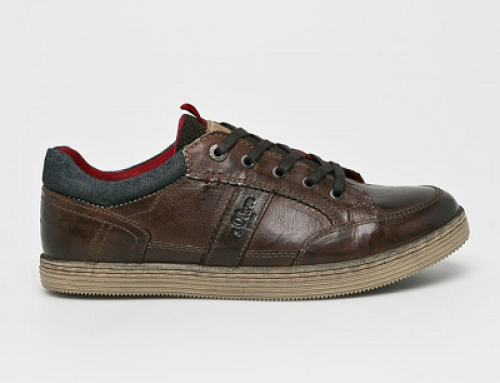 Pantofi casual maro din piele naturală pentru bărbați s. Oliver K5TU