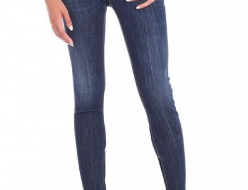 Blugi de damă Super Skinny albaștri, strâmți pe picior, DSQUARED2 Leone