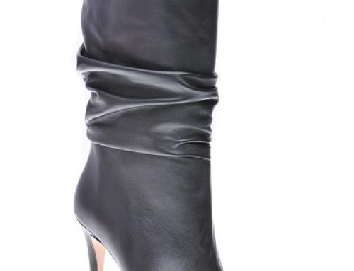Cizme de damă elegante negre cu toc subțire, din piele naturală, Epica Tracy
