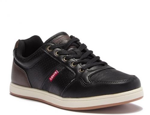 Pantofi sport negri cu talpă plată pentru bărbați Levi's Oscar Millstone
