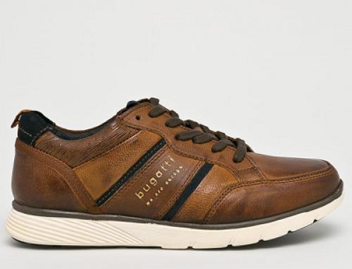 Pantofi sport maro din piele naturală pentru bărbați Bugatti Arturo