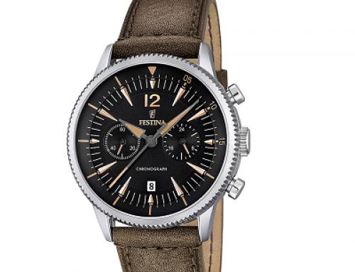 Ceas pentru bărbați Festina Classic F16870/3, 5 ATM, Miyota, OS21, Quartz