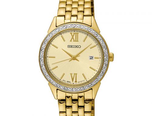 Ceas de damă auriu Seiko Quartz SUR688P1, 3 ATM, Quartz