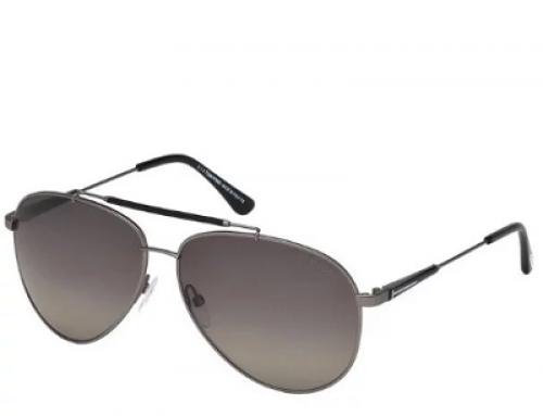 Ochelari de soare polarizați Aviator cu lentile gri, bărbați, Tom Ford FT0378