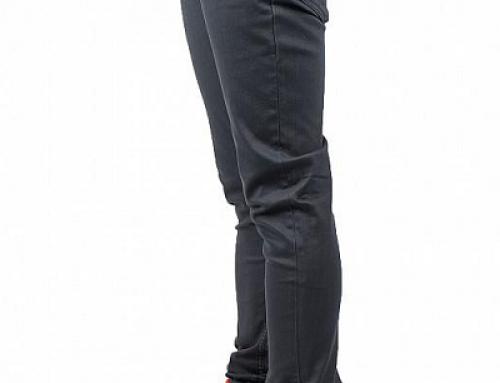 Pantaloni casual gri din bumbac slim fit pentru bărbați Element Mathew