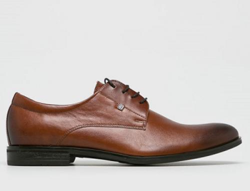 Pantofi eleganți maro din piele naturală cu vârf migdalat pentru bărbați Conhpol Milo