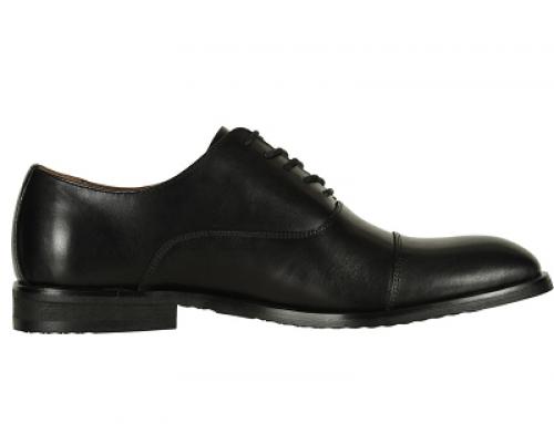 Pantofi office negri din piele naturală pentru bărbați Frye Scott Cap