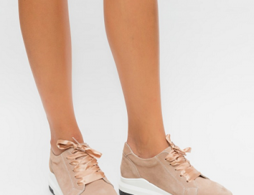 Pantofi sport de damă cu talpă plată, din piele naturală, camel, Yeraso Dep