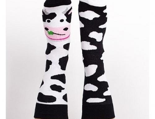 Şosete de damă Nanushki Holy Cow din bumbac cu imprimeu