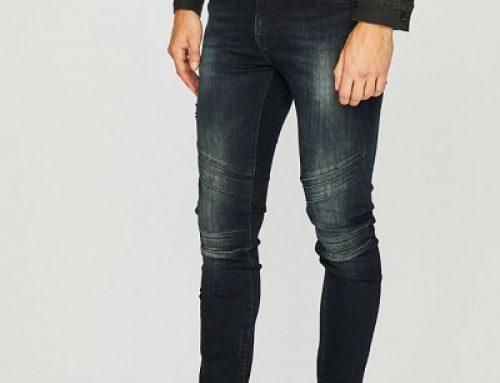 Blugi bărbaţi Guess Jeans Jay elastici, Skinny şi cu talie normală, bleumarin