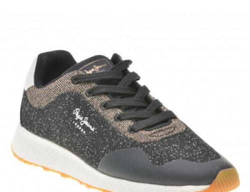 Pantofi sport damă Pepe Jeans Denise negri din material textil