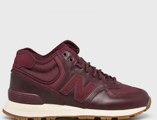 Pantofi sport de damă New Balance WH574BC din piele naturală, mahon