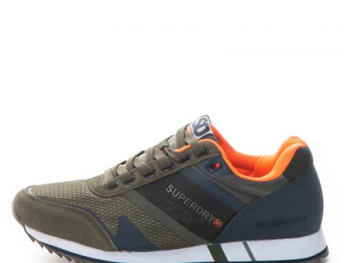 Pantofi sport Superdry Fero Runner pentru bărbați cu piele întoarsă