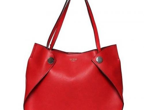 Geantă de damă Guess Shane Shopper roșie cu capsă magnetică