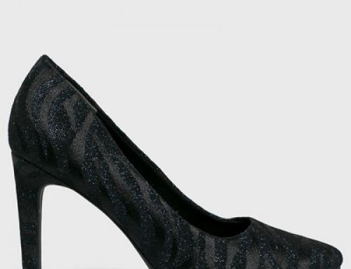 Pantofi damă Marco Tozzi Susan eleganți cu toc subțire, bleumarin